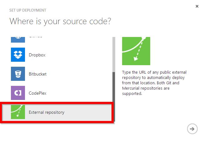 external repository