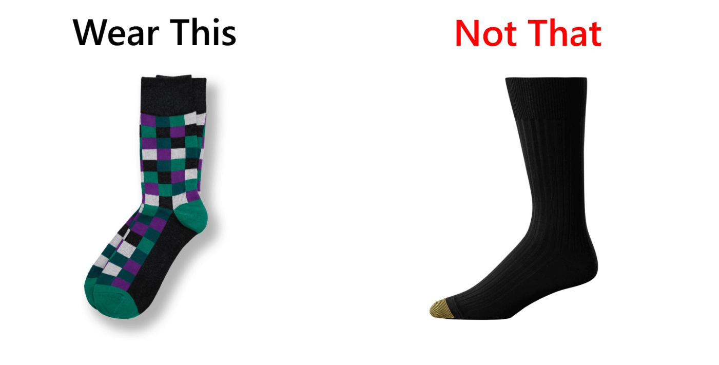 Wear This Not That Dress Socks