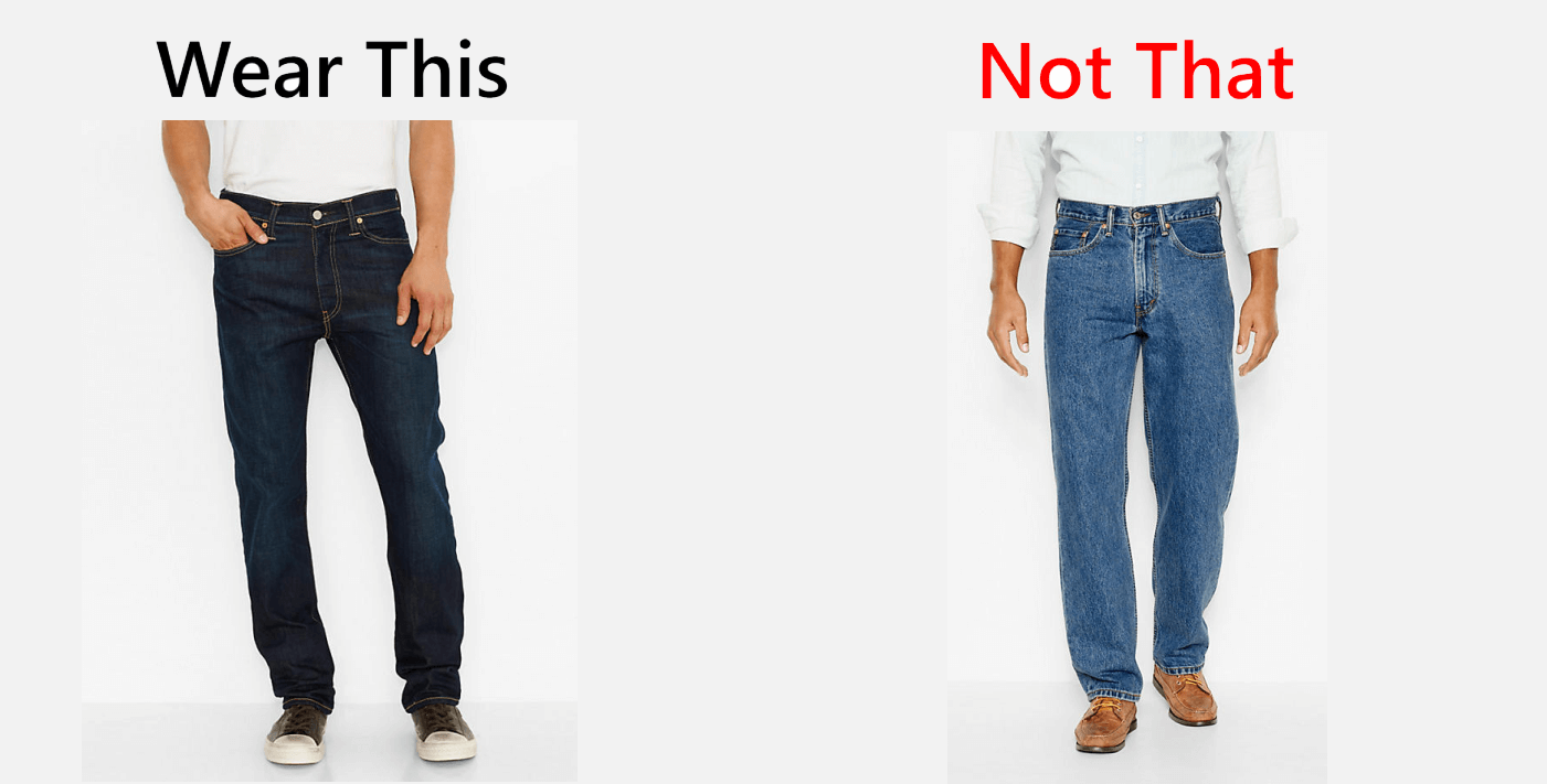 wear this not that, jeans