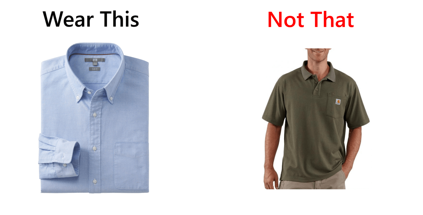 wear this not that business casual shirt coding in style